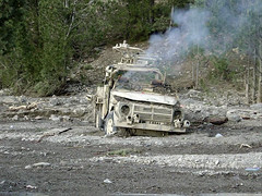 Norwegian Special Forces Zabul Province 2003 (Metziker) Tags: car smoking vehicle rise plumes
