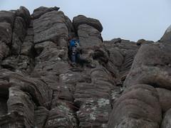 Ian scrambling (Adrian Fagg) Tags: scotland scrambling benmorecoigach torridoniansandstone highlandsgarbhchoireachan