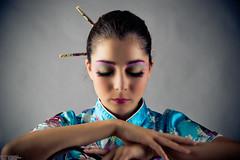 image-4 (stiqqo) Tags: colors girl japan studio fly sticks eyes image background wear nippon kana девушки девушка студия платье япония образ краски фон синее японская палочки макияж японка бирюза веер мейк