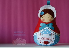 Matrioskas... (Mimos & Feltrices) Tags: felt ama feltro portachaves me maternidade av chaveiro pendente matrioskas