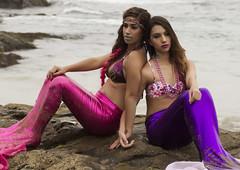 mermaids... (BobbyOlilangPhotography) Tags: ocean ca beach female model photoshoot flash bikini mermaid swimsuits lagunabeach canon85mm18 shawscove canon580exii flashbender bobbyolilangphotography limairyaustria priscillabarraza