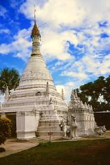 Wat Phra That Doi Kong Mu (Linda DV) Tags: travel geotagged thailand temple asia southeastasia culture adventure 1984 sight siam canoscan maehongson geomapped watphrathatdoikongmu culturaltravel lindadevolder burmesechedi