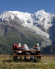 Massif du Mont-Blanc, belvdre du Prarion (Ytierny) Tags: france montagne alpes altitude glacier montblanc banc alpinisme massif hautesavoie goter aiguille randonneur argentire bionnassay ytierny