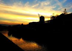 golden (black one7) Tags: sunset river golden day sarajevo samsung galaxy end miljacka siii skenderija