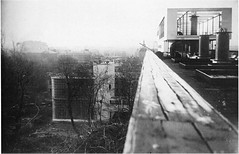 Narkomfin, view from the rooftop solarium during construction (1930)a (rosswolfe1) Tags: modernarchitecture constructivism ginzburg narkomfin milinis