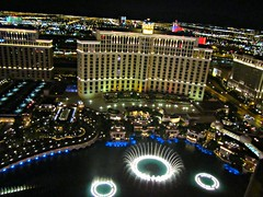 View from the Eiffel Tower of Las Vegas