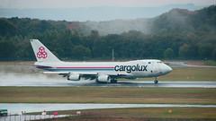 Takeoff (Matt H. Imaging) Tags: airplane sony tamron 747 luxemburg slt cargolux a55 findel sonyalpha slta55v tamron18270pzd ©matthimaging