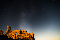 Andromeda Rising (studioximaging) Tags: mountain nature landscape utah nationalpark sandstone arch arches moab hoodoo lasal