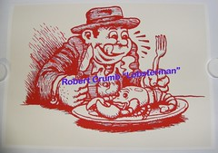 CRUMBy Lobsterman Print-UNSIGND SURPRINT-11-2-13_40 (Doctor Noe) Tags: limitededition robertcrumb crumbyredlobsterman 22x155 crumbylobstermanprint gorgeousinawarholiandrellakindofway