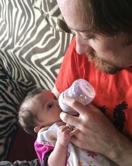Daddy Feeds Luna (evaxebra) Tags: baby daddy bottle infant feeding ryan luna newborn feed newbor