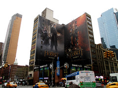 Hobbit - The Desolation of Smaug 42nd St Billboards 2013 NYC 1046 (Brechtbug) Tags: street new york city nyc shadow 2 two art film halloween movie poster square j orlando mural martin near broadway lord billboard part rings american r lilly bloom times avenue creature hobbit tolkien 8th bilbo baggins freeman serial desolation fright 42nd legolas evangeline smaug the standee 2013 tauriel 11262013