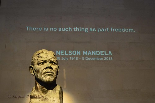 Tributes to Nelson Mandela on the Southbank London