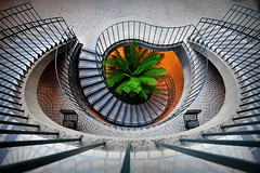 spiral staircase (snooked123) Tags: sanfrancisco birthday spiral nikon ngc wideangle staircase embarcadero 16mm spiralstaircase zahra embarcaderocenter wajahat tehmina d700