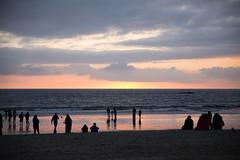 Sunset @ Santa Monica Beach (hanstrappfr) Tags: california sunset usa beach losangeles santamonica plage coucherdesoleil californie tatsunis