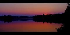 To be awake is everything (Dan Haug) Tags: haliburton ontario fujinon sunrise sun fujifilm xe1 reflection orange panoramic explore explored