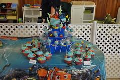 Finding Nemo Cake, Cupcake & Cake Pop Combo (rikkitikitavi) Tags: cake coral seashells dessert shark nemo handmade chocolate sealife disney cupcake vanilla squirt reef dory findingnemo milkchocolate fondant buttercream frenchvanilla brucetheshark handsculpted cakeball cakepop