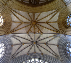 The crossing tower vault, Milton Abbey, Dorset, England (Hunky Punk) Tags: architecture abbeys medieval gothic crossing vaulting star lierne miltonabbey dorset england uk middleages spencermeans hunkypunk church tower roof boss stone carved carving