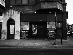 No loitering, Begging, Banging, Soliciting, & NO Smoking! (Fredrick March (Tog)) Tags: chicago storefront westside ricohgrv