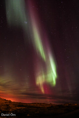 Norurljs (Danniorn) Tags: camera blue red sky house color green night stars photography lights star photo iceland amazing cool purple daniel aurora northern hafnarfjrur starts danni multi northernlights auroraborealis icelandic orn rn norurljs smarason danniorn northernlightc danniornsmarason