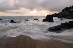 Ocean waves (Philippe POUVREAU) Tags: ocean sunset sky beach water canon landscape photography ngc wave vague saintnazaire 2014 océan slowwater 550d beacheslandscapes