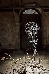 Metal Head (DMeadows) Tags: light sculpture house art electric metal by barn scotland artwork kissing iron estate fife farm lara snowdrops lit interactive greene stable starlight cambo kingsbarns davidmeadows dmeadows davidameadows dameadows