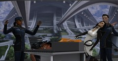 Office Espionage: Part 4 (Jon_Waggoner) Tags: original guy art up work fan poser 3d sam ashley diana joker knocked characters tied samantha mass effect normandy carry peril shepard unconscious carried kidnapped daz in chloroform koed kaidan abducted allers shenko traynor chloroformed femshep morinth