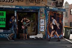The Troubadour (Ranga 1) Tags: urban girl canon graffiti guitar candid fitzroy australian streetphotography australia melbourne streetscene victoria explore suburbs busker troubadour urbanlandscape brunswickstreet davidyoung innersuburbs innermelbourne ef24105mmf4lusm canoneos5dmarkii