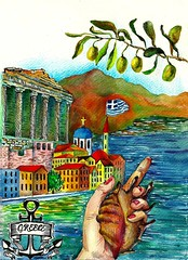 """Illustration 18 """"Greece"""" to artproject An Endless book (olhamoiseienko) Tags: color colors pencils watercolor painting creativity drawing creative greece coloredpencils                 endlessbook"""