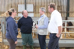 "Secretary of State for Environment , Food & Rural Affairs Owen Patterson joins Stephen Mosley MP meeting dairy farmers in Chester • <a style=""font-size:0.8em;"" href=""http://www.flickr.com/photos/51035458@N07/14166413953/"" target=""_blank"">View on Flickr</a>"