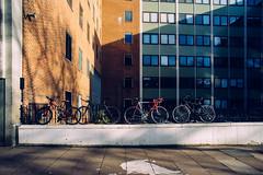 Bikes (martindesu) Tags: uk winter london voigtlander sunny wideangle kensington 20mm