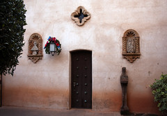 Church door (Jackie_Mx) Tags: door arizona church statue mary sedona virgin