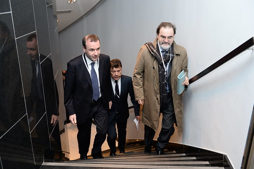 brussels party people european parliament summit epp chairman weber manfred 2015