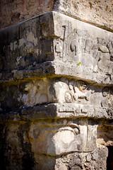 Mayan Face - Tulum, Mexico (JGMarshall Photography) Tags: travel archaeology architecture canon mexico photography interesting ancient maya ruin yucatan tulum naturallight adventure explore backpacking mayan tropical caribbean dslr tropics centralamerica lostcity joemarshall jgmarshall