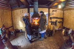 Warming up at the blacksmith's (Michael Olea) Tags: travel winter russia listvyanka 2014 lakebaikal