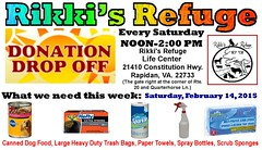virginia saturday help animalrescue donation animalsanctuary donations helping donate cleaningsupplies animalrefuge rapidan 21415 rikkisrefuge helpinganimals donatedfeed saturdaydonationdropoff february142015
