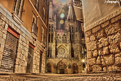 Burgos (Jostography) Tags: street city canon eos spain centro catedral ciudad nocturna burgos hdr nigth 100d jostography