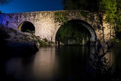 Chill (Puenting1) Tags: longexposure bridge water rio night river puente spain agua cceres largaexposicin gargantadecuartos losardelavera canonefs18200mmf3556is