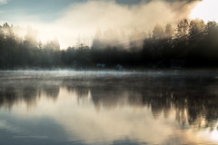 A Morning In March (jeanmarie shelton) Tags: morning light sky sunlight mist lake nature water fog clouds sunrise reflections landscape outdoors nikon shadows serene waterscape jeanmarie cottagelake jeanmarieshelton