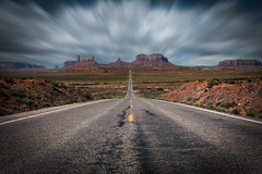 One For The Road (Eric Gail: AdventuresInFineArtPhotography) Tags: ericgail 21studios canon canon70d 70d explore interesting interestingness photoshop lightroom nik software landscape nature infocus adjust photo photographer ca cs6 topazlabs picture monumentvalley utah arizona highway roadway vanishing point
