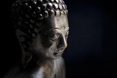 Silver Buddha (fredMin) Tags: travel macro statue silver cambodia fuji head buddha tubes fujifilm extension fujinon oudong xt1 mcex11