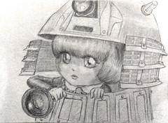 SAM_6490_Dal_Drta_Dalek_ (applecandy spica) Tags: art pencil fan sketch doll drawing dal doctorwho pullip dalek applecandy drta dottorwho