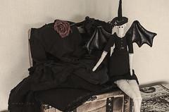 Work in progress (Mara Fox) Tags: black vintage sewing stillife