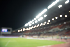 Blurred,motion blur,Rajmangkala stadium in thailand (leykladay) Tags: world portrait people man motion sport club ball thailand person moving football goal movement fighter play action kick stadium fifa soccer group competition player line thai editorial match fans league cheering champions supporters active kingcup tpl
