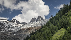 Rocks, Ice and Vapour (Stefsan (on and off)) Tags: trees france mountains alps nature clouds forest canon eos switzerland 7d glaciers chamonix aiguilledumidi chamonixvalley chamonixmontblanc aiguilledutour alpinelandscape glacierdutour stefsan massifmontblanc stefansandmeier