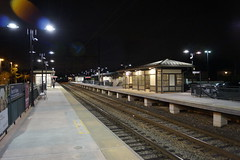 North Wales Station at night (Geo Gibson) Tags: station wales train north rail septa regional georgegibsonphotos