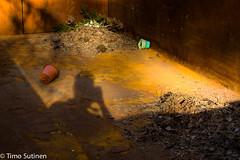 Varjokuvaaja / Shadow photographer (Timo Sutinen) Tags: shadow lava photographer rost corrosion selfie varjo kuvaaja ruoste roskalava korroosio