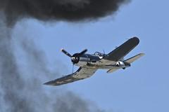 Trough the Smoke, Vought (Goodyear) FG-1D Corsair, NX451FG, Sun 'n Fun International Fly-In, Florida (Peter Cook UK) Tags: show sun fun 1 fly florida d air n international corsair lakeland goodyear flyin fg in 2016 vought fg1d nx451fg