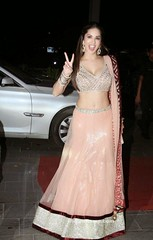 Sunny Leone in Musk Colored mirror Work Lehenga Choli (shaf_prince) Tags: india fashion actress bollywood 2016 lehenga sunnyleone designerwear lehengacholidesigns