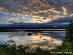 Skokomish Sunset (George Stenberg Photography) Tags: sunset water clouds reflections pacificnorthwest washingtonstate hoodcanal skokomishriver