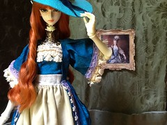 Arrival in Castle Linadel (silverAlly) Tags: studio doll body christina hybrid chateau embossed angell